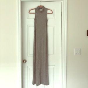 BCBGeneration Gray Maxi Dress